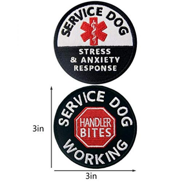 TailWag Planet Airsoft Morale Patch 4 Service Dog EMS Working Do Not Pet Distract Handler Bite Therapy Medic Paramedic Star Vest/Harnesses Tactical Morale Patch Embroidered Badge Fastener Hook & Loop Emblem, 6 Pcs
