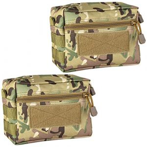 IronSeals Tactical Pouch 1 IronSeals MOLLE Pouch, 2 Pack Multi-Purpose Tactical Compact Water-Resistant Utility Gadget Gear EDC Pouch