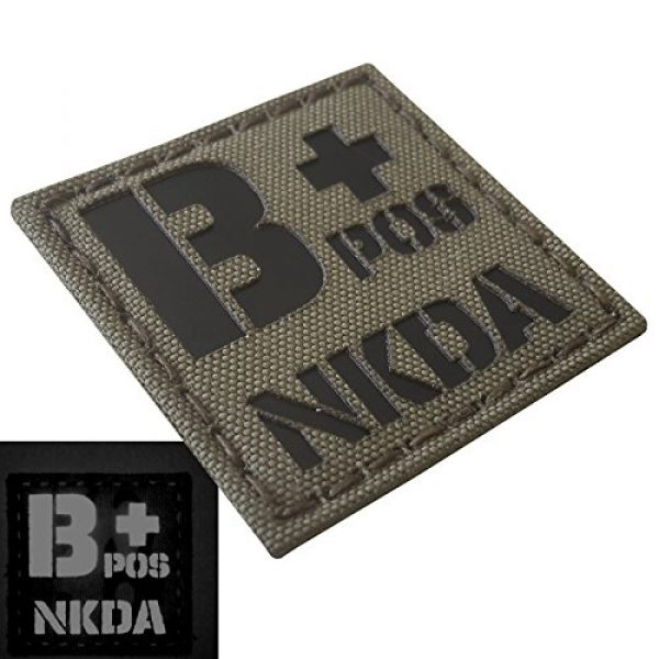 Tactical Freaky Airsoft Morale Patch 4 Ranger Green Infrared IR BPOS NKDA B+ Blood Type 2x2 Tactical Morale Fastener Patch