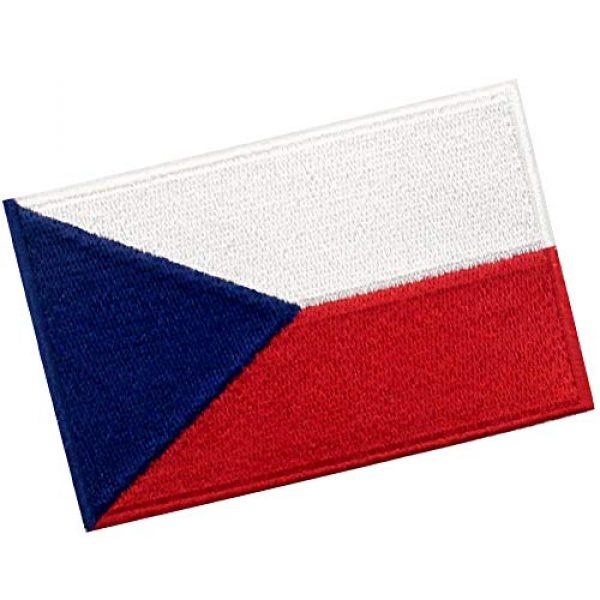 EmbTao Airsoft Morale Patch 3 EmbTao Czech Republic Flag Patch Embroidered Morale Applique Iron On Sew On National Emblem