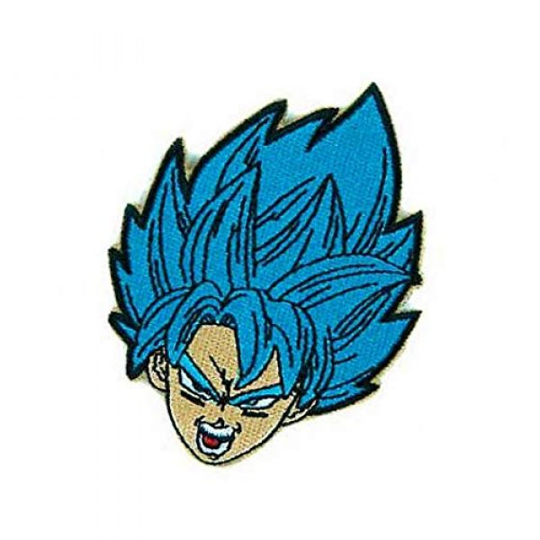 Embroidery Patch Airsoft Morale Patch 3 Dragon Ball Z Goku Super Saiyan Military Hook Loop Tactics Morale Embroidered Patch