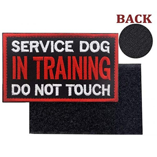 Ehope Airsoft Morale Patch 3 Patch Service Dog in Training Do Not Touch Vests/Harnesses Emblem Embroidered Fastener Hook & Loop Patch(Service Dog in Training-5)