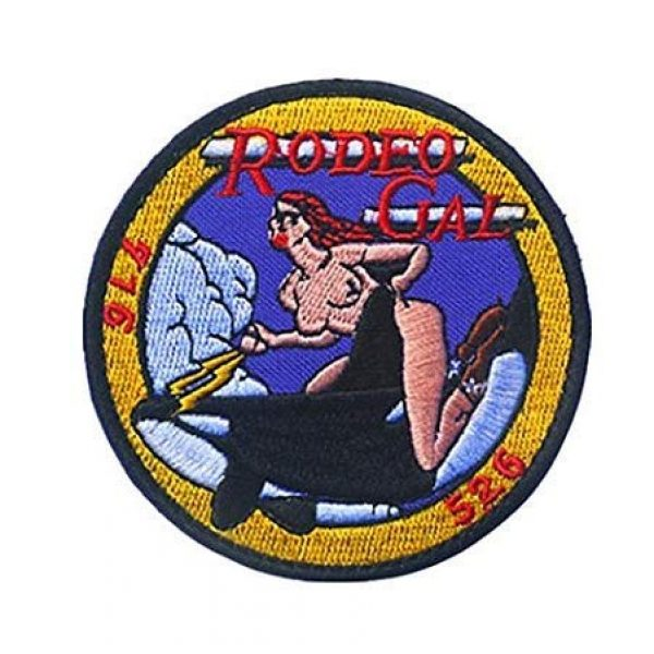 Embroidered Patch Airsoft Morale Patch 1 Black Ops Rodeo Gal DC-130 Cruise Missile Killer Whale 3D Tactical Patch Military Embroidered Morale Tags Badge Embroidered Patch DIY Applique Shoulder Patch Embroidery Gift Patch