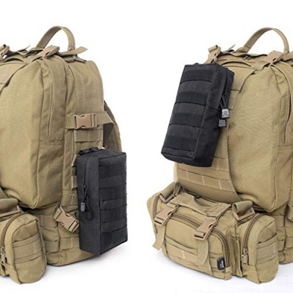 ASCOCO Tactical Pouch 7 ASCOCO Packs Tactical EDC Molle Pouch Tactical Waist Compact Organizer Gadget Gear Outdoor Pouch