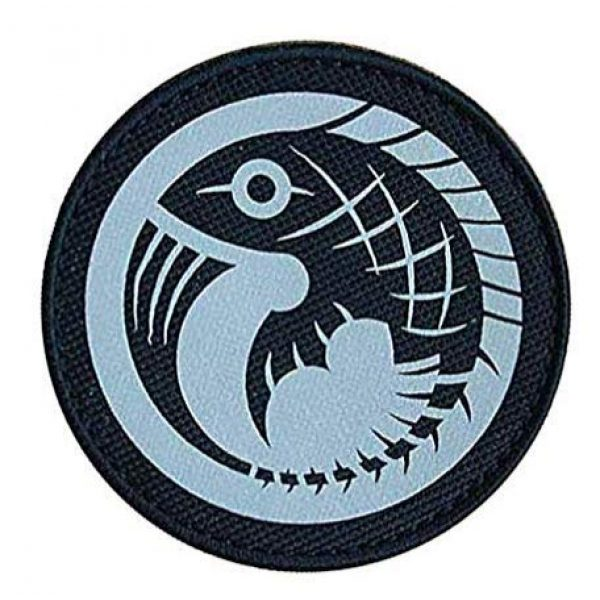 """Embroidered Patch Airsoft Morale Patch 1 Gamma-5 Red Herrings"""" Reflective Foundation Special Containment Procedures SCP Logo IR Tactical Patch Military Embroidered Morale Tags Badge Patch DIY Applique Shoulder Patch Embroidery Gift Patch"""