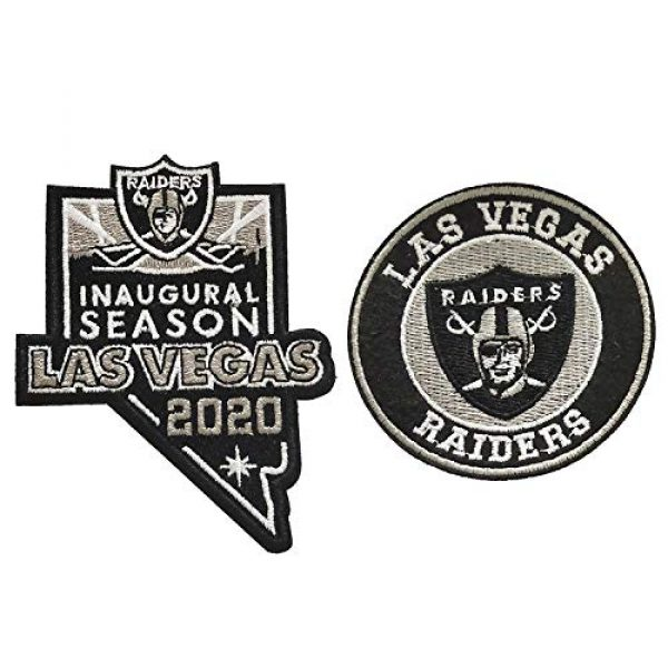 Janhop Airsoft Morale Patch 1 Janhop 2pcs Compatible Raiders Patch, 2020 Inaugural Season Tactical Hook-Backed Morale Patch Football Team Logo Jersey