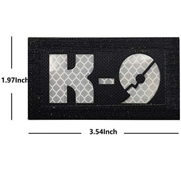 APBVIHL Airsoft Morale Patch 6 Glow Dark Police K9 Unit Service Dog Morale Tactical Infrared IR Reflective Patch - Hook Fastener Backing, 1.97 x 3.54 Inch