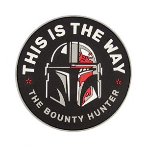 Embrosoft Airsoft Morale Patch 1 Bounty Hunter PVC Patch - This is The Way Mandalorian - Star Wars TV Series Morale Emblem - Hook/Loop Backing - Size: 3.5 x 3.5 inches