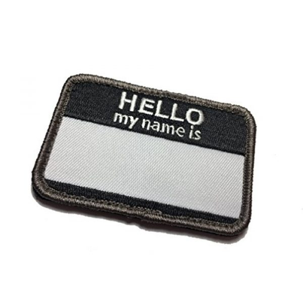 """Empire Tactical USA Airsoft Morale Patch 1 The 2.5 x 2"""" Hello My Name is (Hook/Loop) Military Morale Patch"""