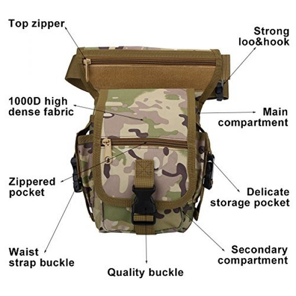 VGEBY Tactical Pouch 2 VGEBY Hunting Leg Pouch, Camouflage Drop Leg Thigh Packs Tactical Waist Pouch Satchel for Motorcycle Hunting Riding