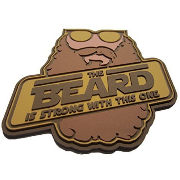 F-Bomb Morale Gear Airsoft Morale Patch 2 The Beard is Strong - PVC Morale Patch