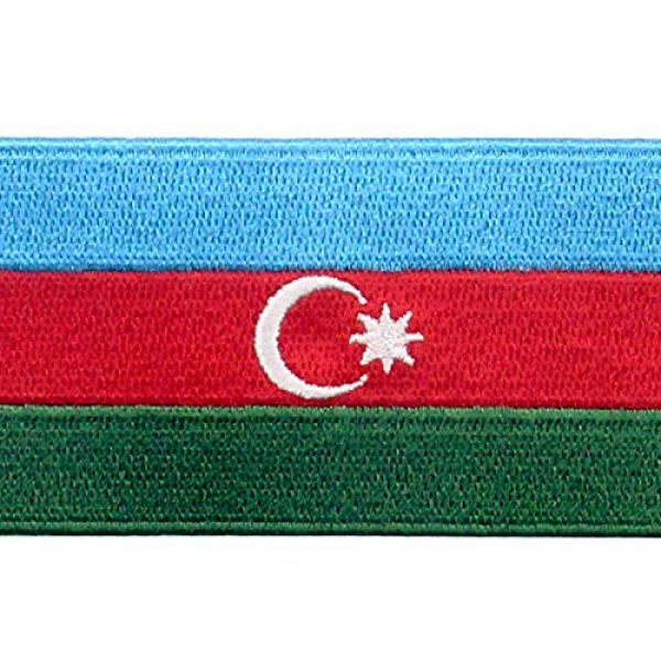 EmbTao Airsoft Morale Patch 2 EmbTao Azerbaijan Flag Patch Embroidered National Morale Applique Iron On Sew On Azerbaijani Emblem