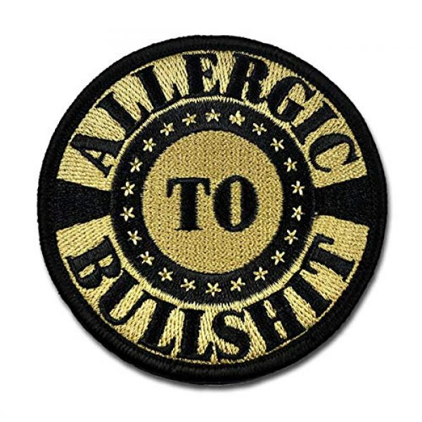 BASTION Airsoft Morale Patch 1 BASTION Morale Patches (Allergic to BS ACU) | 3D Embroidered Patches with Hook & Loop Fastener Backing | Well-Made Clean Stitching | Military Patches Ideal for Tactical Bag, Hats & Vest
