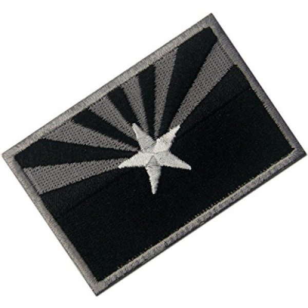 EmbTao Airsoft Morale Patch 3 Arizona State Flag Embroidered Tactical Emblem Iron On Sew On AZ Patch - Black