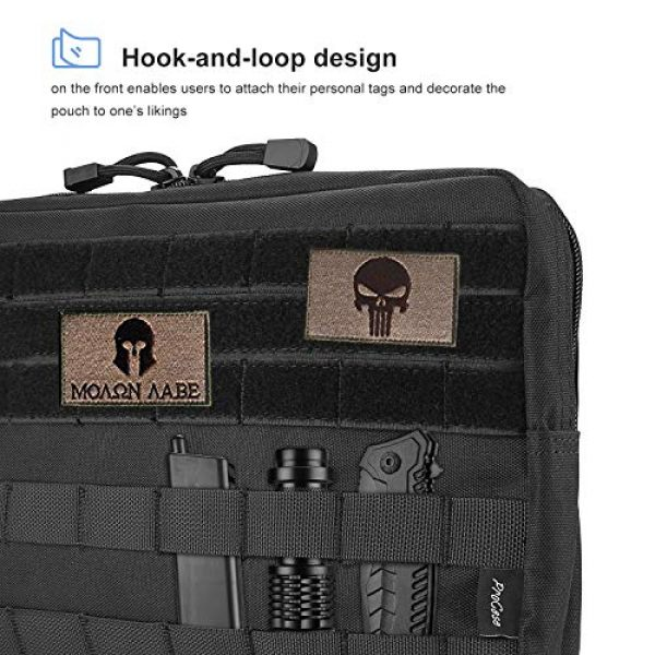 ProCase Tactical Pouch 6 ProCase Tactical Admin Molle Pouch, Military MOLLE Pouch Horizontal Multi-Purpose Utility Gadget Gear Tool Bag for Magazine, Flashlight, Map and Other Small Tools for Outdoor Activities -Black