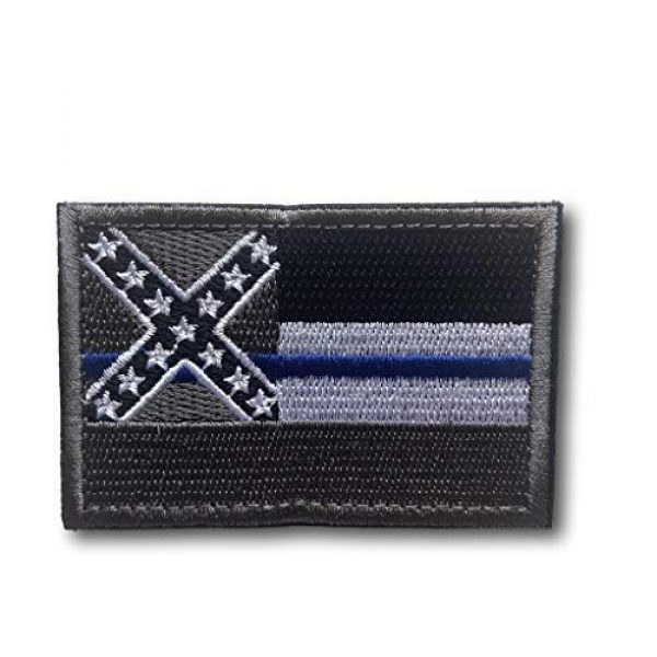 Backwoods Barnaby Airsoft Morale Patch 1 Backwoods Barnaby Mississippi State Flag Hook & Loop Morale Patch