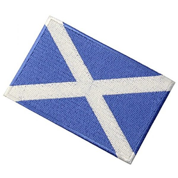 EmbTao Airsoft Morale Patch 3 Scotland Flag Scottish National Emblem Embroidered Iron On Sew On Patch