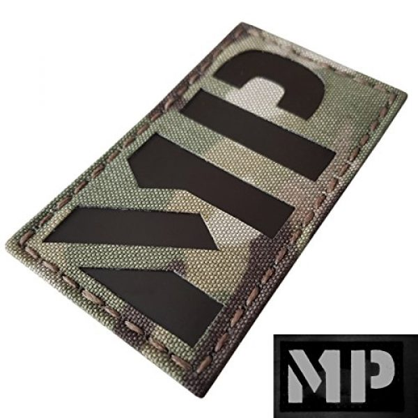 Tactical Freaky Airsoft Morale Patch 4 Multicam Infrared Military MP 3.5x2 Tactical Morale Hook-and-Loop Patch