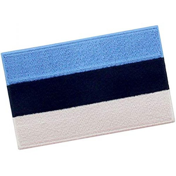 EmbTao Airsoft Morale Patch 3 EmbTao Estonia Flag Patch Embroidered National Morale Applique Iron On Sew On Estonian Emblem