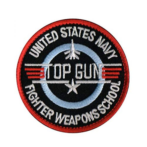 Zhikang68 Airsoft Morale Patch 3 Top Gun Movie Maverick Pete Mitchell Morale US Navy Air Force Aviator Embroidered Patch Military Tactical Army Gear for Hat Operator Baseball Cap Backpack Jacket Shirt DIY Sew On Costume Badge