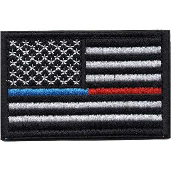 Tvoip Airsoft Morale Patch 2 Tvoip 9Pcs New American Flag Tactical Morale Patches US Army Badge Armband Patch Jeans Backpack Jacket