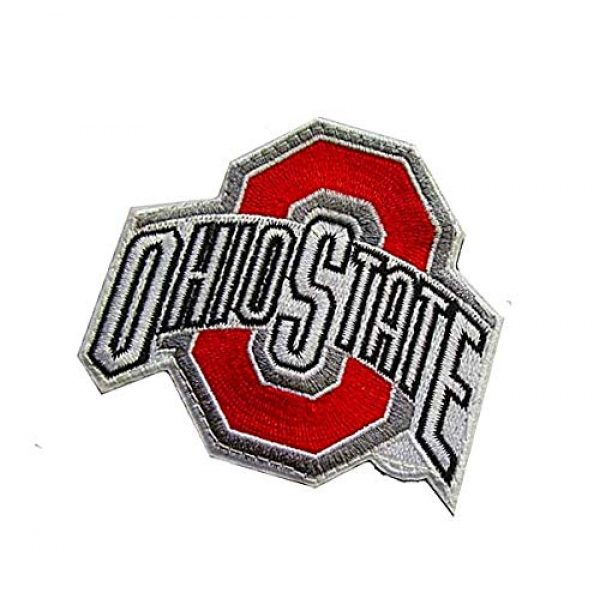 Embroidery Patch Airsoft Morale Patch 3 Ohio State Buckeyes Military Hook Loop Tactics Morale Embroidered Patch