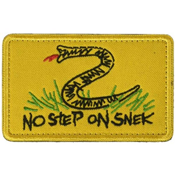 Ansellf Airsoft Morale Patch 1 No Step On Snek, Embroidered Patch Funny Tactical Embroidered Badge Hook Loop Tactical Patch