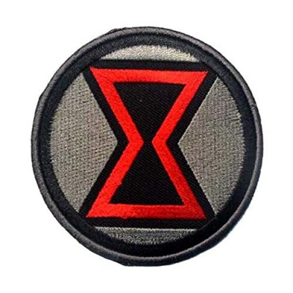 Embroidered Patch Airsoft Morale Patch 1 Black Widow Superhero 3D Tactical Patch Military Embroidered Morale Tags Badge Embroidered Patch DIY Applique Shoulder Patch Embroidery Gift Patch