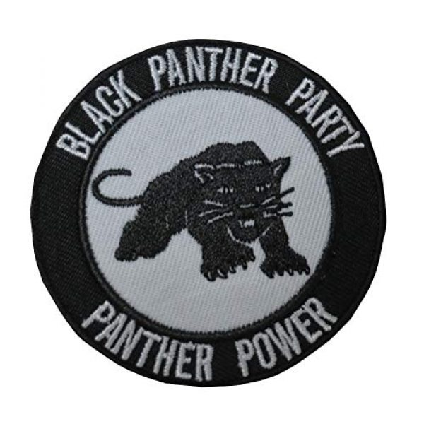 TrendyLuz USA Airsoft Morale Patch 1 Black Panther Party Power Tactical Morale Hook & Loop Patch