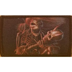Fast Service Designs Airsoft Morale Patch 1 Skull & Guitar Patch with Hook & Loop Tactical Morale Funny Bones Emblem #13