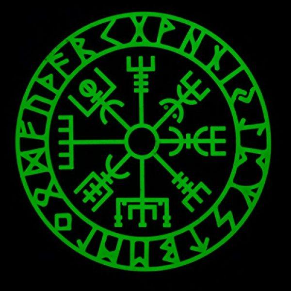 LEGEEON Airsoft Morale Patch 2 LEGEEON Glow Dark Vegvisir Viking Compass Norse Rune Morale Tactical PVC Rubber 3D Fastener Patch