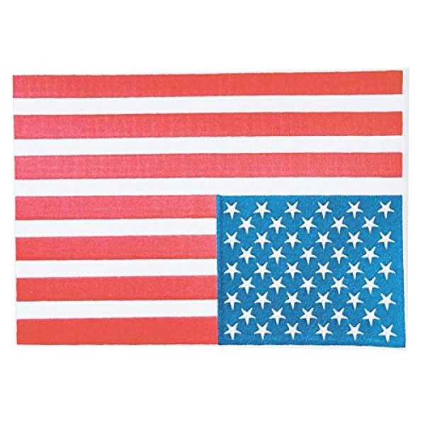 """Heavens Tvcz Airsoft Morale Patch 1 Heavens Tvcz Large XXL National Flag Embroidered Motorcycle for Men Women Teens Patches Thin Red White Line Morale Stars On Blue Background Tactical US Flag Worn Black United Jeans Women Patch 11"""" x 7"""