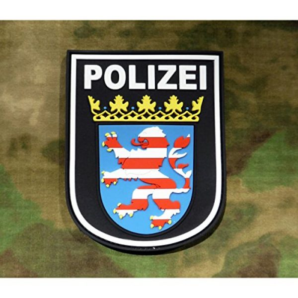Jackets To Go Airsoft Morale Patch 2 Jackets To Go JTG German Police Hessen 3D Patch - fullcolor