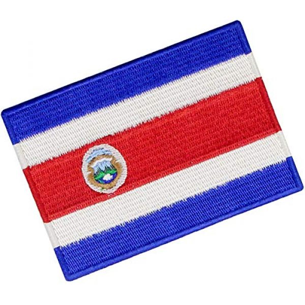 EmbTao Airsoft Morale Patch 3 The Republic of Costa Rica Flag Patch Embroidered Applique Costa Rican Iron On Sew On National Emblem
