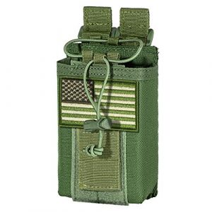 IronSeals Tactical Pouch 1 IronSeals Tactical Molle Adjustable Interphone Storage Bag Outdoor Sports Radio Pouch for Two Ways Walkie-Talkie