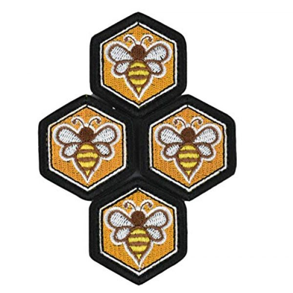 JFFCE Airsoft Morale Patch 1 Great Originality Morale Patch Full Embroidery Military Patch for Caps,Bags,Backpacks,Clothes,Tactical Vest,Military Uniforms (Bee)