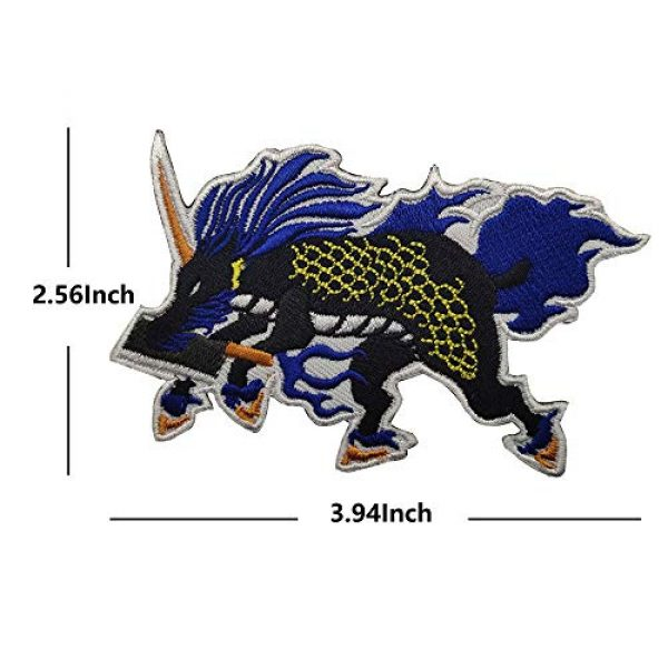 APBVIHL Airsoft Morale Patch 6 Dragon Cooking Master Chef Boy Embroidered Patches, Custom Personalized Emblem Tactical Military Morale Funny Embroidery Badges with Fastener Hook and Loop Backing