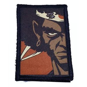 """RedheadedTshirts Airsoft Morale Patch 1 Afro Samurai Morale Patch. 2x3"""" Hook and Loop Patch. Made in The USA"""