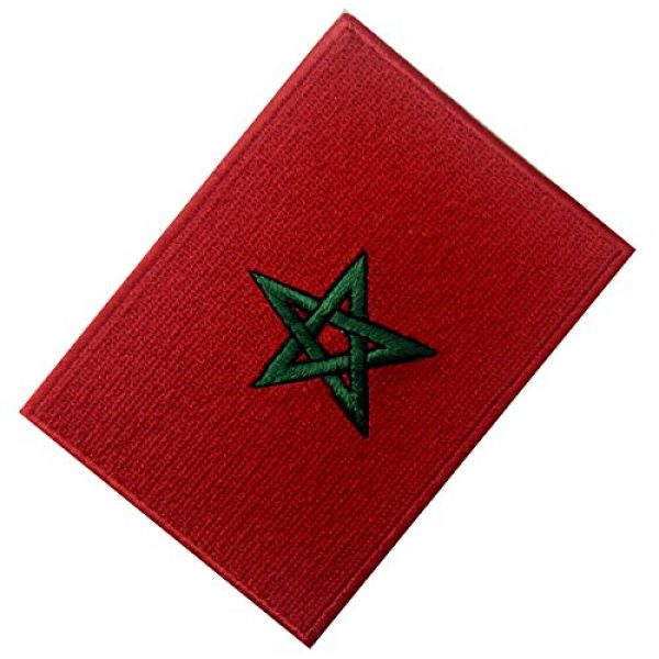 EmbTao Airsoft Morale Patch 3 Morocco Flag Embroidered Patch Moroccan Iron On Sew On National Emblem