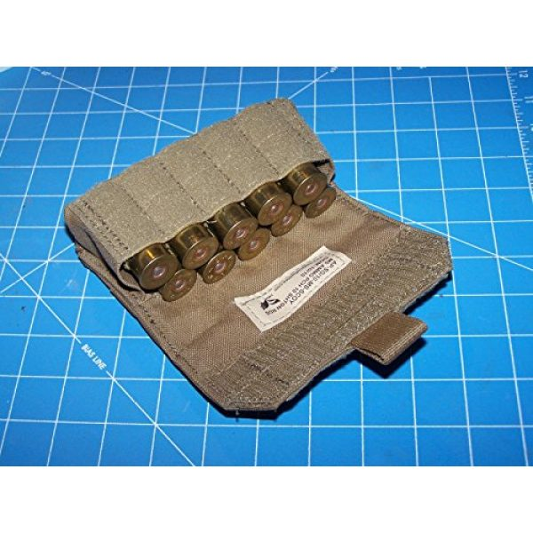 12 Gage Ammo Pouch Tactical Pouch 2 Shotgun 12 Gage Ammo Pouch Military USMC MOLLE FSBE Coyote w P38