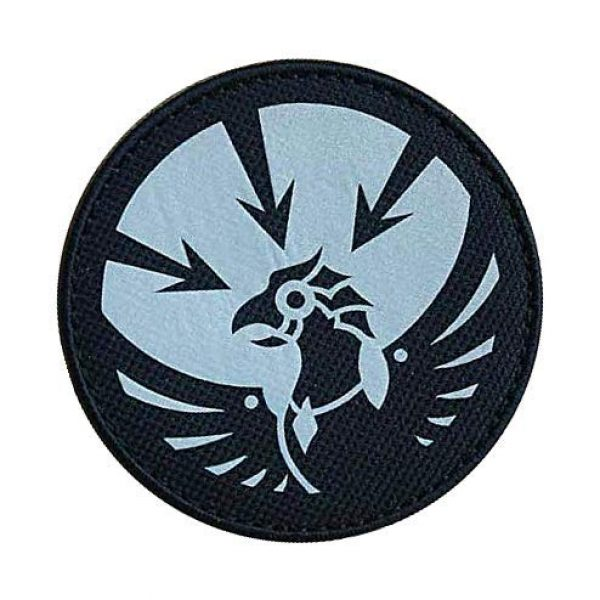"""Embroidery Patch Airsoft Morale Patch 2 SCP Foundation Special Containment Procedures Foundation SCP Mobile Task Forces Gamma-13 Asimov's Lawbringers"""" Military Hook Loop Tactics Morale Reflective Patch"""
