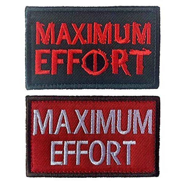 Antrix Airsoft Morale Patch 1 Antrix 2 Pcs Maximum Effort Tactical Embroidered Badge Emblem Hook & Loop Patch for Kids Teens Children Backpacks Caps Hats Jackets
