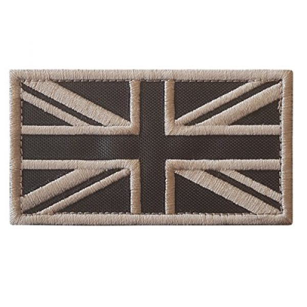 LEGEEON Airsoft Morale Patch 1 LEGEEON Subdued Tan Arid Great Britain UK Union Jack Flag Morale Tactical Badge Army Embroidery Hook-and-Loop Patch