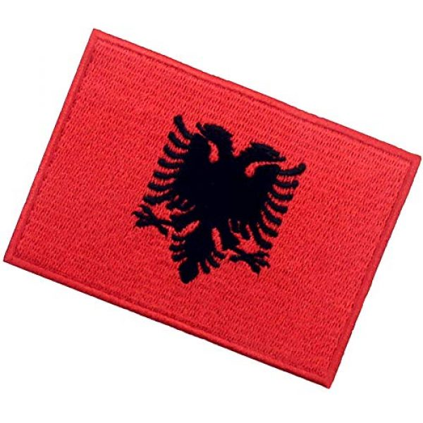 EmbTao Airsoft Morale Patch 4 EmbTao Albania Flag Patch Embroidered National Morale Applique Iron On Sew On Albanian Emblem