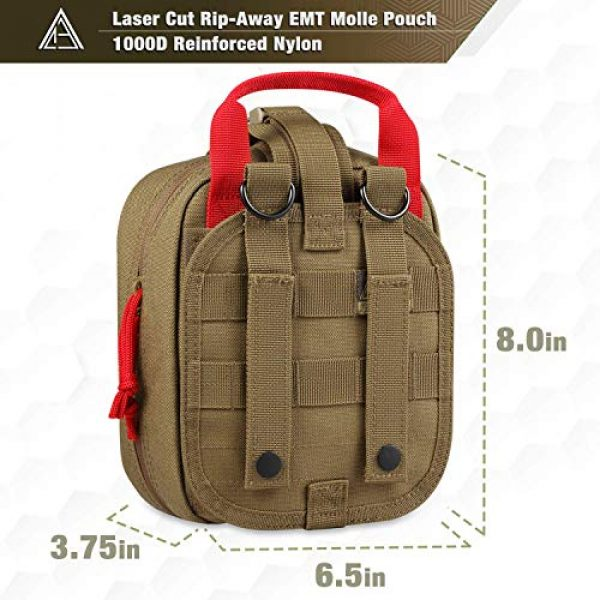 AceTac Gear Tactical Pouch 2 Ace Tac MOLLE Medical Pouch EMT 1000D Nylon First Aid Pouch Rip-Away IFAK Tactical Utility Pouch for Outdoor Activities Medical Supplies