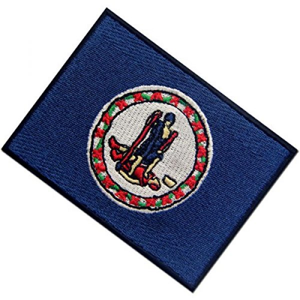 EmbTao Airsoft Morale Patch 4 Virginia State Flag Embroidered Emblem Iron On Sew On VA Patch
