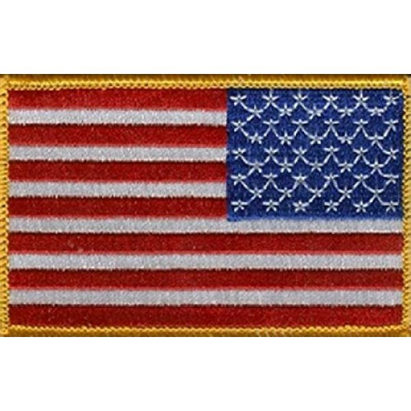 """World Flags Direct Airsoft Morale Patch 1 International Country Flag Patch 3.50"""" x 2.25"""", One Embroidered Iron or Sew On Flag Emblem; Over 100 Tactical Morale Patch Options Available (USA - Right)"""