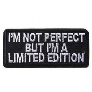 Hng Kiang Hu Airsoft Morale Patch 1 I'm Not Perfect But I'm A Limited Edition Embroidered Iron On Sew On Morale Funny Patch
