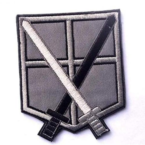 Embroidered Patch Airsoft Morale Patch 3 4pc Attack on Titan 3D Tactical Patch Military Embroidered Morale Tags Badge Embroidered Patch DIY Applique Shoulder Patch Embroidery Gift Patch