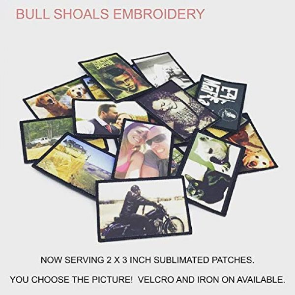 Bull Shoals Embroidery Airsoft Morale Patch 3 Design Your Own Custom 2 by 3 Inch Morale Photo Patch with Velcro Brand Fastener